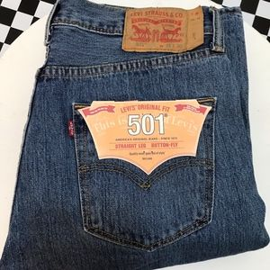 Levi's 501 Straight Leg, Button Fly Jeans